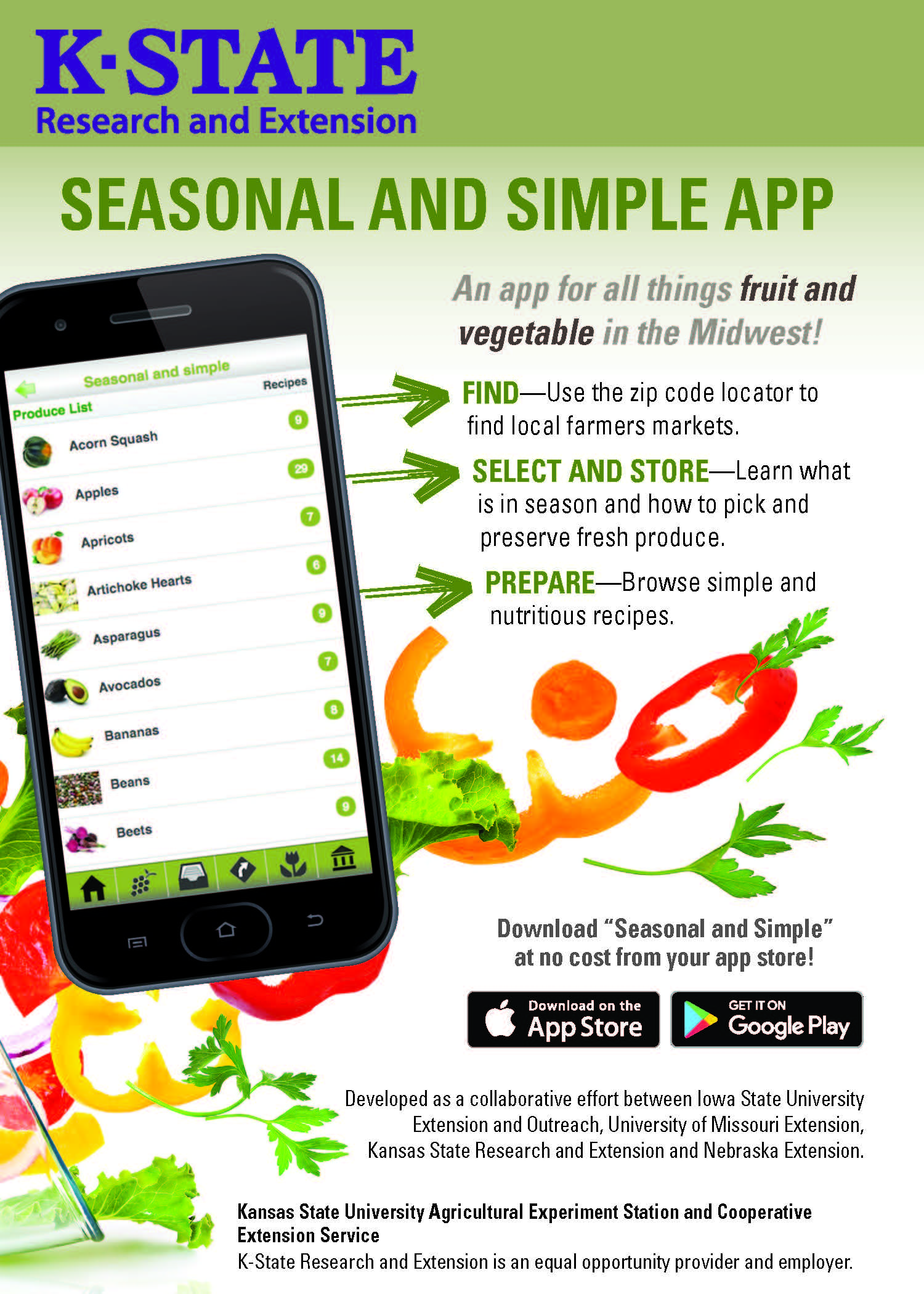seasonal an simple app